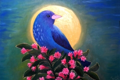 Full-moon Blue Bird