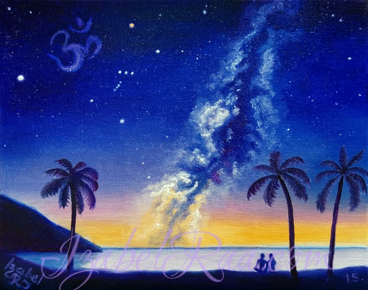 """Aum Night"". Oil painting on canvas panel."