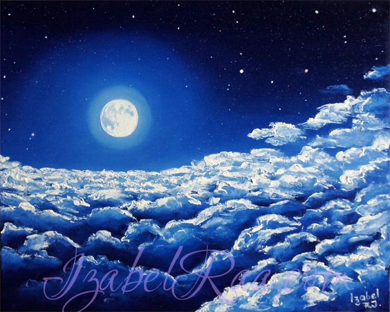 """Flight To The Blue Moon"". Oil painting on canvas."