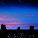 """Dreaming Monument Valley"". Oil painting on canvas."