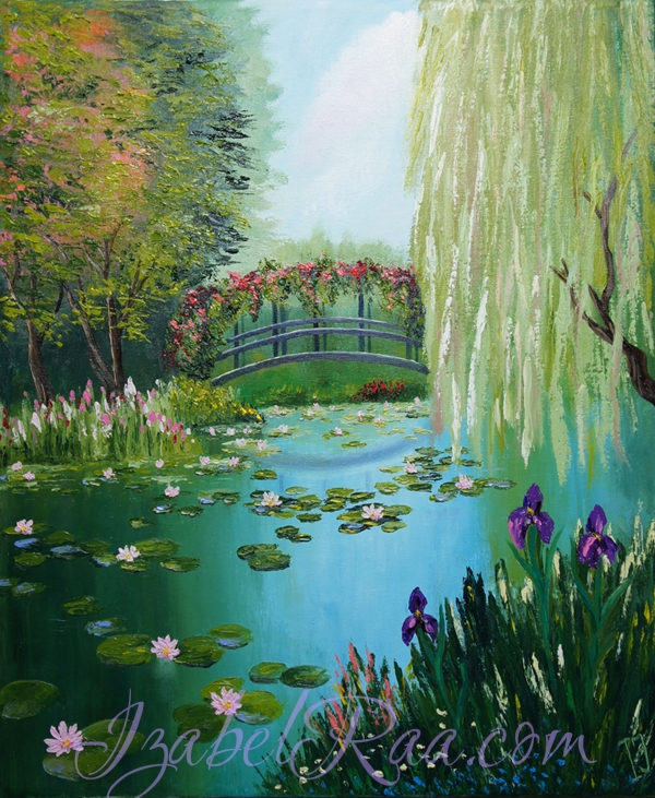 """Enchanted Pond - The Keeper of Forgotten Memories"". Oil painting on canvas."