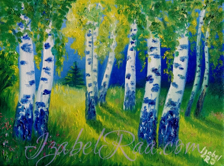"""Forest"". Oil painting on canvas."