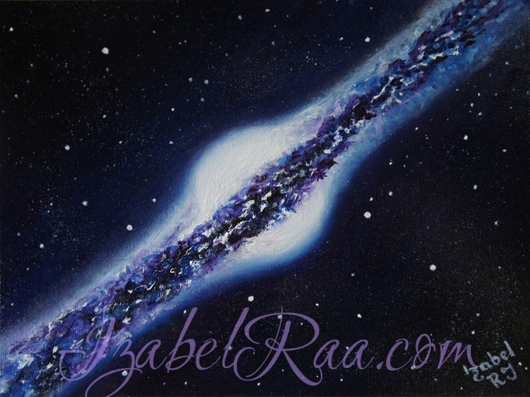 """Galaxy N387"". Oil painting on canvas."