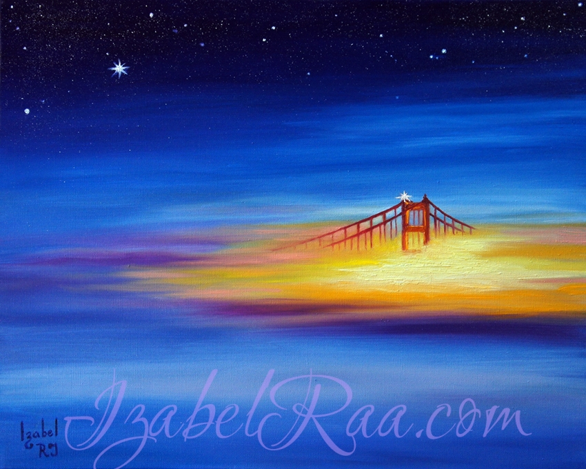 """Golden Gate Dream"". Oil, canvas."