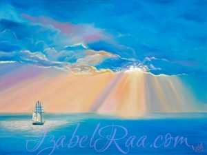 """Grand Voyage"". Original oil painting on canvas. Izabel Raa"