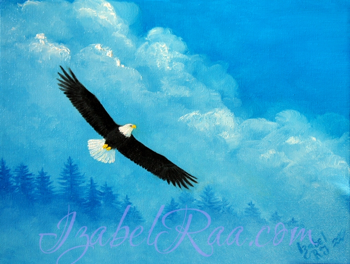 """In the Air"". Oil painting on canvas."