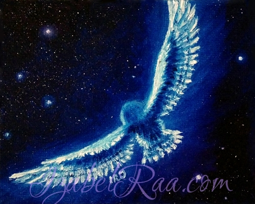 """Invisible Flight"". Oil painting on canvas panel."