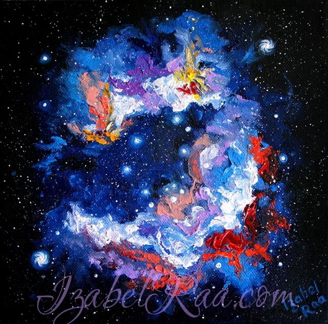 """""""Nebula"""". Oil painting on canvas."""
