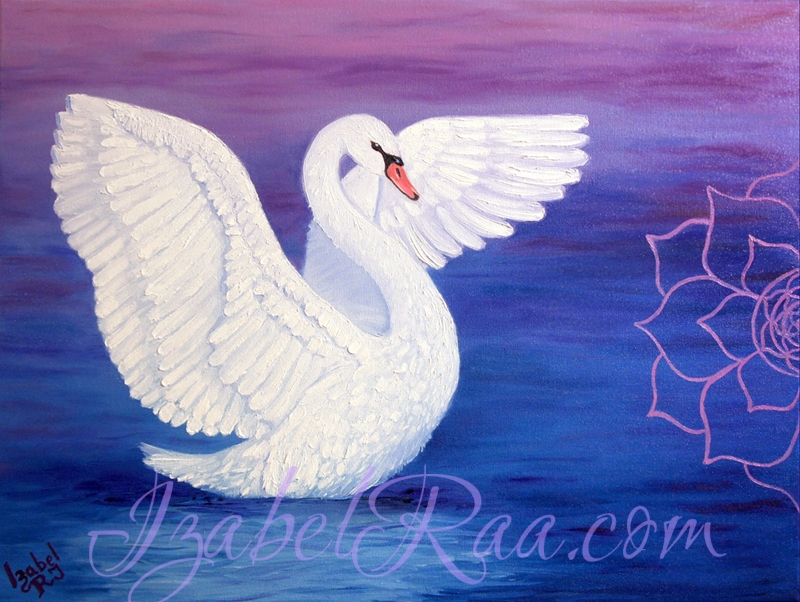 """Purity"", or ""Essence of Soul"". Oil painting on canvas."