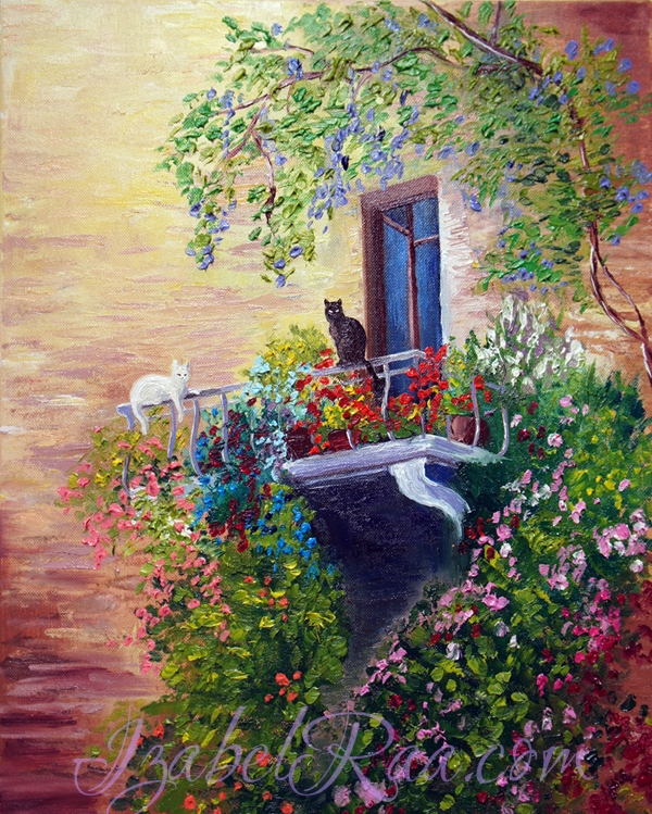 """Siesta"". Oil painting on canvas."