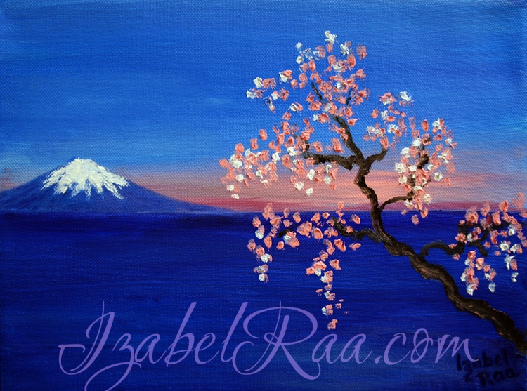 """The Dream about Japan"". Oil painting on canvas."