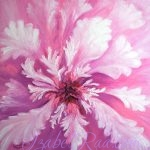 """The Flower from the Garden of the Snow Queen"". Oil painting on canvas."