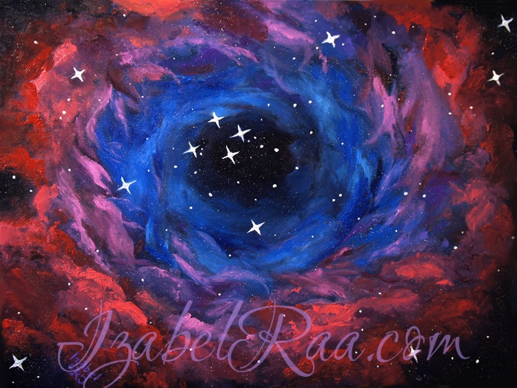 """The Formation of Stars"". Oil painting on canvas."