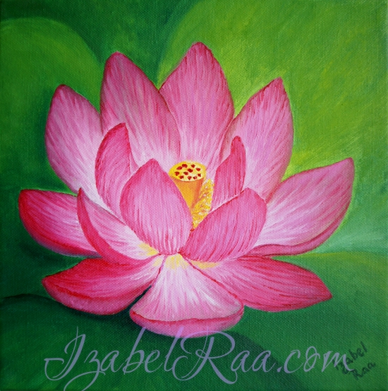 """The Heart Of Purity"". Oil painting on canvas."