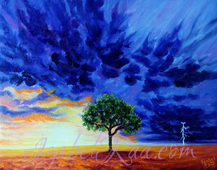 """The Storm"". Oil painting on canvas."