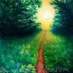 """To the Light"". Oil painting on canvas panel."
