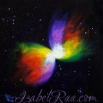"""Rainbow (Boomerang) Nebula"". Oil painting on canvas."