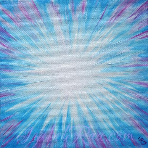 """Shining Star"" Energy Portrait of Ksenia. Oil painting on canvas panel"