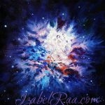 """Crystal Cosmic Flower"". Oil painting on canvas. Izabel Raa"