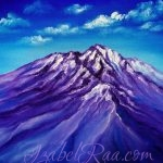 Shasta. Oil painting on canvas. Izabel Raa Jan