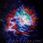 """Cosmic Bloom"". Oil painting on canvas. Izabel Raa Jan"