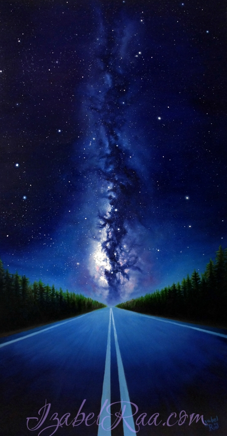 """Galactic Journey"". Oil painting on canvas."