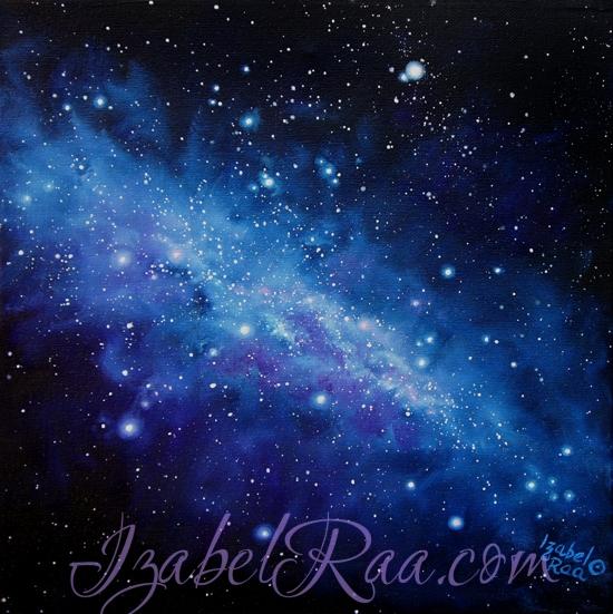 """Music of Stars"". Oil painting on canvas. Izabel Raa, 2018"