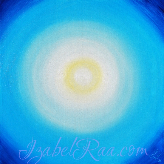 "Energy Portrait of the Day. ""Solar Eclipse 02.15.2018 - Paradigm Shift"". Oil painting on canvas. Izabel Raa"