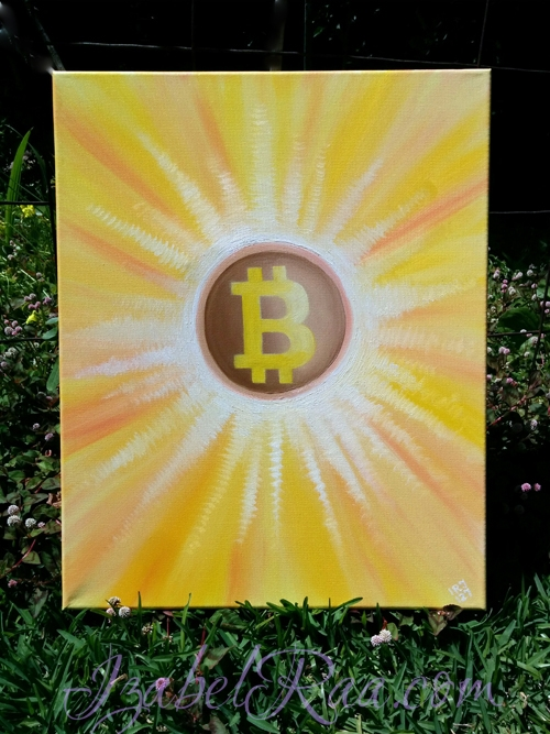 """Energy Portrait of Bitcoin"". Oil Painting on Canvas. (c) IRJ127"