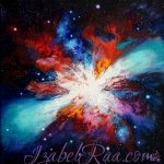 """Cosmic Butterfly"". Oil painting on canvas. (c) Izabel Raa"