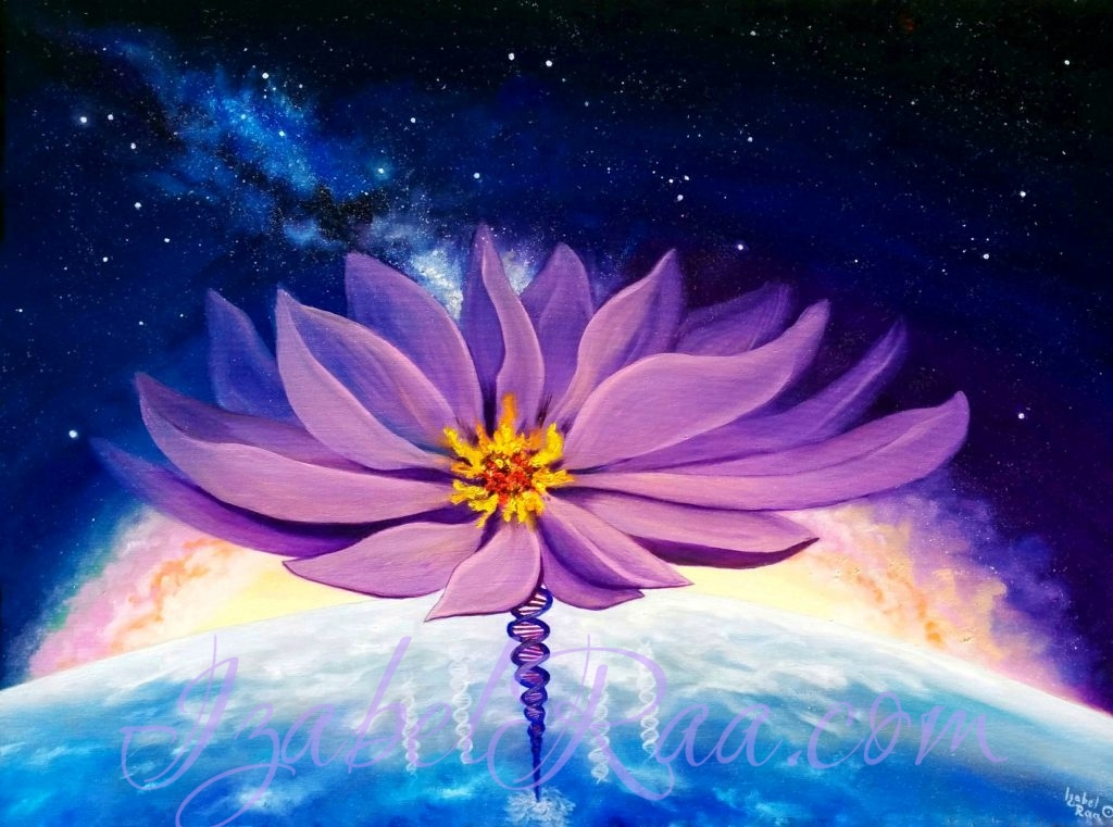 Cosmic Lotus of Divinity. Oil painting on canvas. (c) Izabel Raa