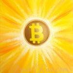 """Energy Portrait of Bitcoin (BTC)"". Oil Painting on Canvas. (c) IRJ127"