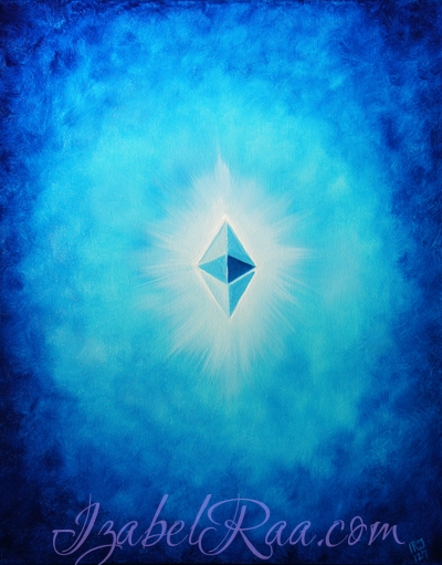 """""""Energy Portrait of Ethereum (ETH)"""". Original Oil Painting. (c) IRJ127"""