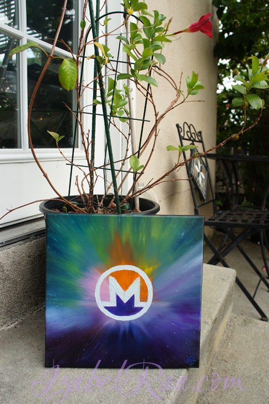 """Energy Portrait of Monero (XMR)"". Original Oil Painting. (c) IRJ127"