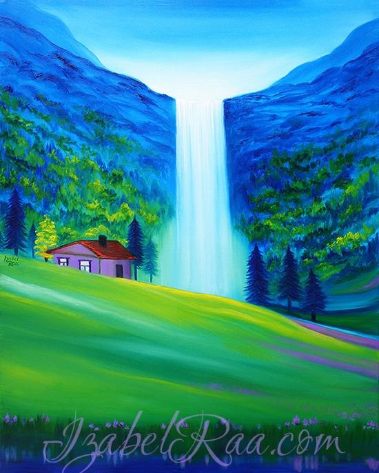 """""""The Dream, or Hidden Sanctuary"""". (c) Izabel Raa, 2018. Original oil painting"""