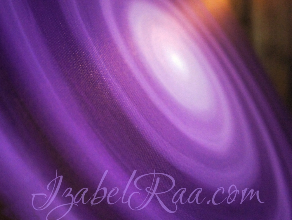 """Transmuting Violet Flame"", or ""The Balancing of The Dark and The Light"". Closeup. Oil painting on canvas. © Izabel Raa, 2016"