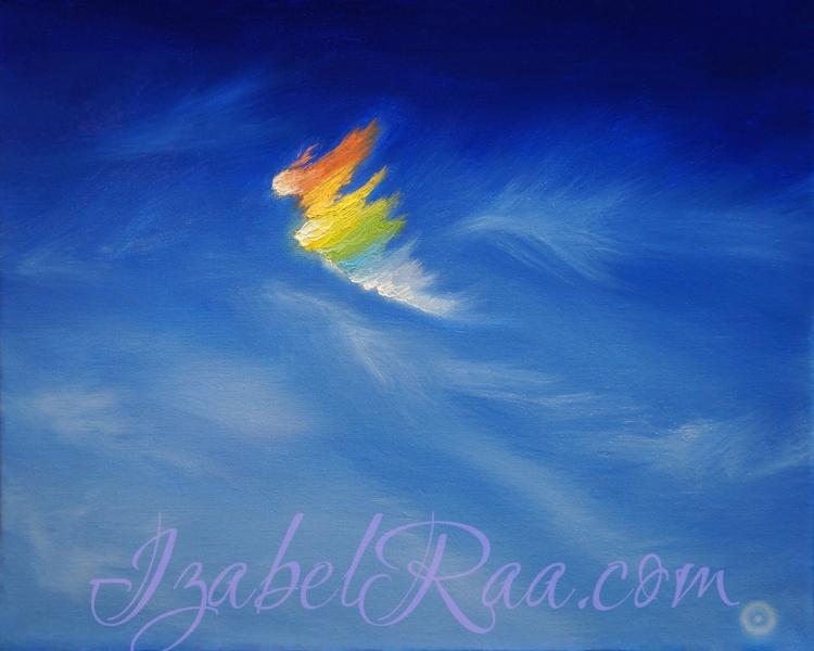 """""""Angel"""". Oil painting on canvas. © Izabel Raa, 2019"""