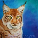 """Lynx"". Oil painting on canvas. © Izabel Raa, 2019"