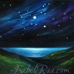 """Star Symphony Over Sea Chalice"" (""Симфония звёзд над Морской Чашей""). Oil painting on canvas. © Izabel Raa, 2020"