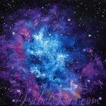 """Heart Nebula"". Oil painting on canvas panel. © Izabel Raa, 2020"