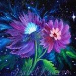 """Cosmic Yin-Yang"" (""Космические Инь-Ян""). Oil painting on canvas. © Izabel Raa, 2020"