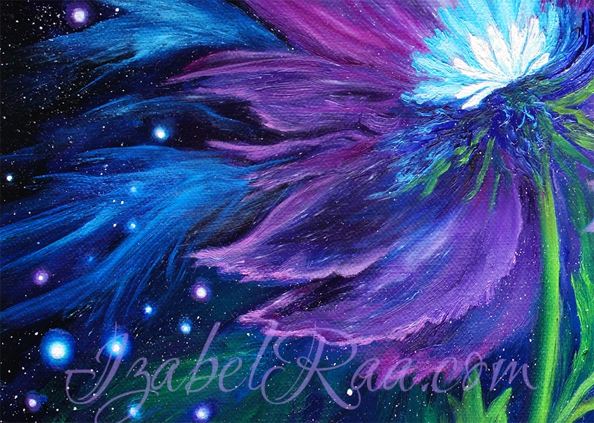 """Cosmic Yin-Yang"" painting close-up"