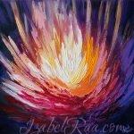 """Fiery-Crystalline Flower of Liberation"" (""Огненно-кристаллический цветок освобождения""). Oil painting on canvas. © Izabel Raa, 2020"