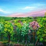 """Magic Forest Near Villa ""Sea Chalice"" (""Волшебный лес у виллы ""Морская Чаша""""). Oil painting on canvas. © Izabel Raa, 2020"
