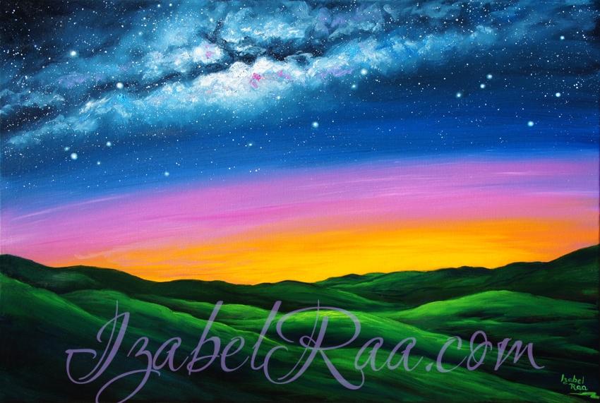 """""""Radiance of Light Over Black Sea Shambala"""" (""""Сияние света над Черноморской Шамбалой""""). Oil painting on canvas. © Izabel Raa, 2020"""