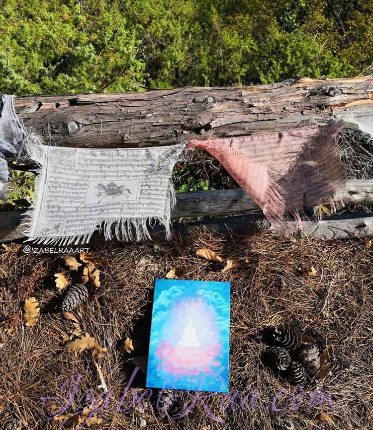 """""""Avalokiteśvara"""" painting and the relic forest. / """"Авалокитешвара""""и реликтовый лес."""