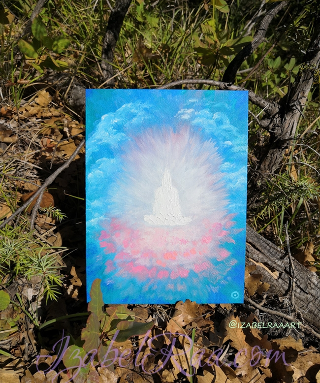 """""""Avalokiteśvara"""". (""""Авалокитешвара""""). Oil painting on canvas panel. © Izabel Raa, 2020"""