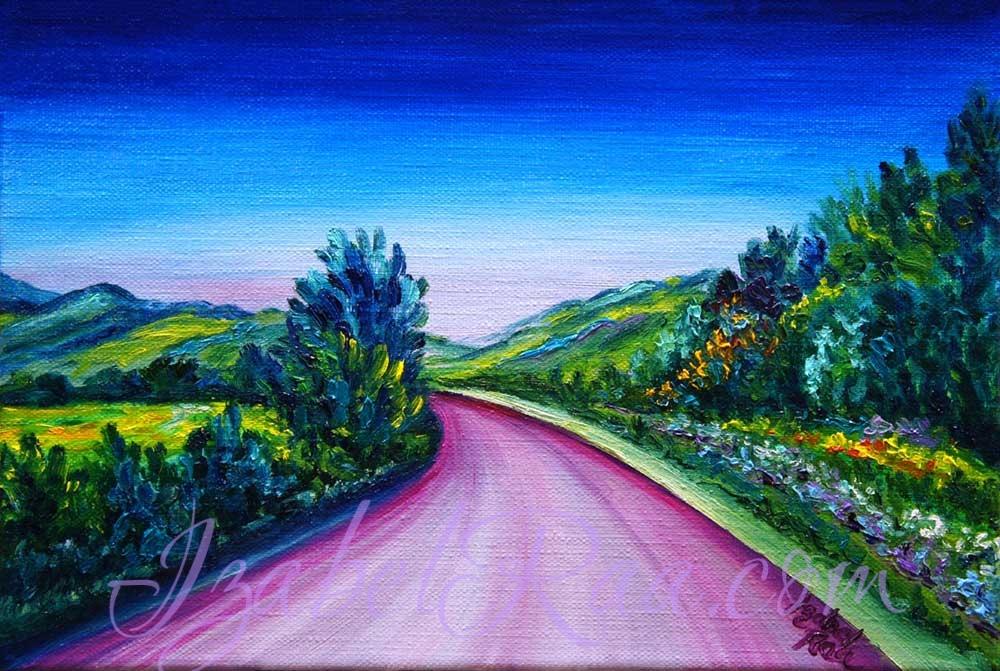 """Trip to Happiness"" (""Путешествие в счастье""). Oil painting on canvas. © Izabel Raa, 2021"