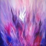 """Recalibrating DNA with the Violet Flame"" (""Перекалибровка ДНК с помощью Фиолетового Пламени""). Oil painting on canvas. © Izabel Raa, 2021"